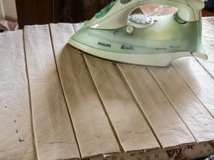 Ironing the pleats